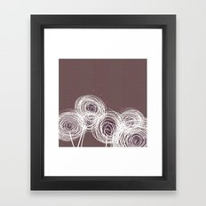Doodle Flowers in Purple by Friztin Framed Art Print