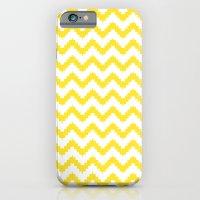 iPhone & iPod Case featuring funky chevron yellow pattern by ravynka