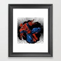 Spidey Color Framed Art Print
