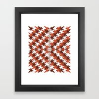 Eagles and Flowers and Eagles Framed Art Print