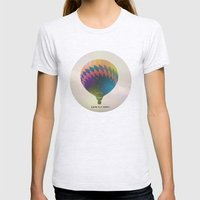 Lets Fly Away Womens Fitted Tee Ash Grey SMALL