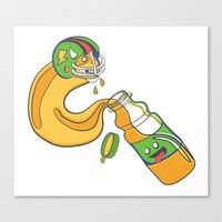 The Sports Drinker Canvas Print