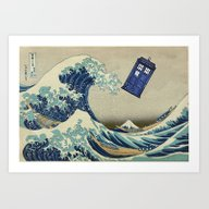 The Great Wave Doctor Wh… Art Print