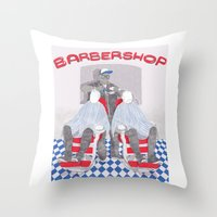 Barbershop Throw Pillow
