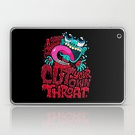 Laptop & iPad Skin featuring A Sharp Tongue Can Cut Y… by Chris Piascik