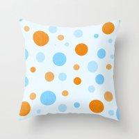 Something Fishy Bubbles Throw Pillow