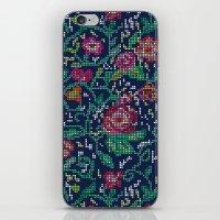 Pixel Flowers iPhone & iPod Skin