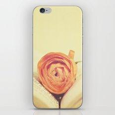 {Old Book and Ranunculus} iPhone & iPod Skin