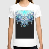 Celtic Fractal Celtic Heart Tapestry Womens Fitted Tee White SMALL