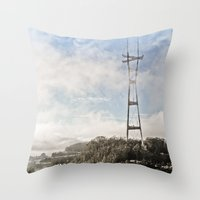 The Peaks Throw Pillow