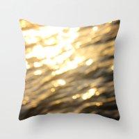 Golden Paradise Throw Pillow