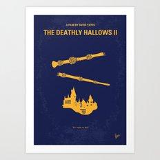 No101-8 My HP - DEATHLY HALLOWS II minimal movie poster Art Print