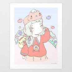KA PI BA RA Art Print