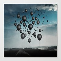 In Limbo - black balloons Canvas Print