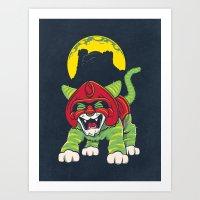 Battle Kitty's Mighty RA… Art Print
