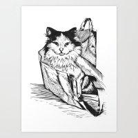 Rory In A Bag Art Print