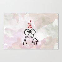 Kiss me ! Canvas Print