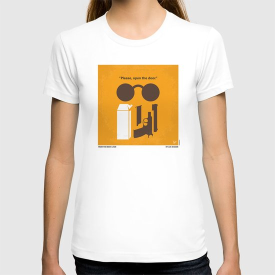 No239 My LEON minimal movie poster T-shirt