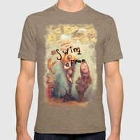 Below the Surface Mens Fitted Tee Tri-Coffee SMALL