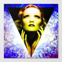 Marlene Dietrich Golden … Canvas Print