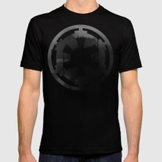 Star Wars Imperial Tie Fighters in Gray SMALL Mens Fitted Tee Black