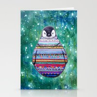 penguin Stationery Cards featuring penguin by beart24