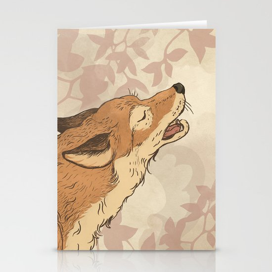 Fox and rabbit Stationery Card