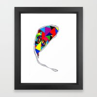 Broken Glass Balloon Framed Art Print