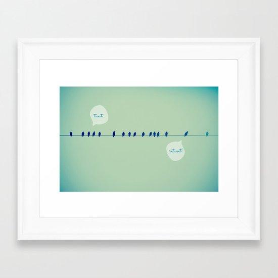 Tweeting Framed Art Print