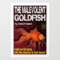 The Malevolent Goldfish - Book Cover  Art Print
