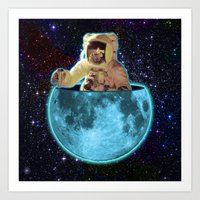 The Man In The Moon Art Print