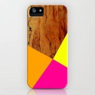 Wooden Colour Blocking iPhone (5, 5s) Slim Case