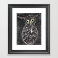 Stylized Owl (Darkened V… Framed Art Print