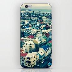 Retro Reykjavik - Iceland iPhone & iPod Skin