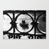 Canvas Print featuring We are in the same boat by Misha Dontsov