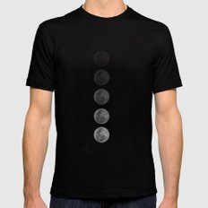 Moon  SMALL Mens Fitted Tee Black