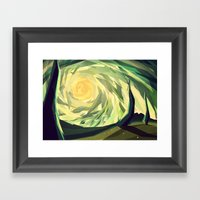 When The Shadows Come T… Framed Art Print