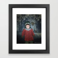 Посмотри! Йети - Beware of the Yeti!  Framed Art Print