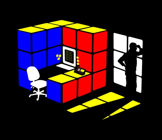 Rubix Cubicle Canvas Print