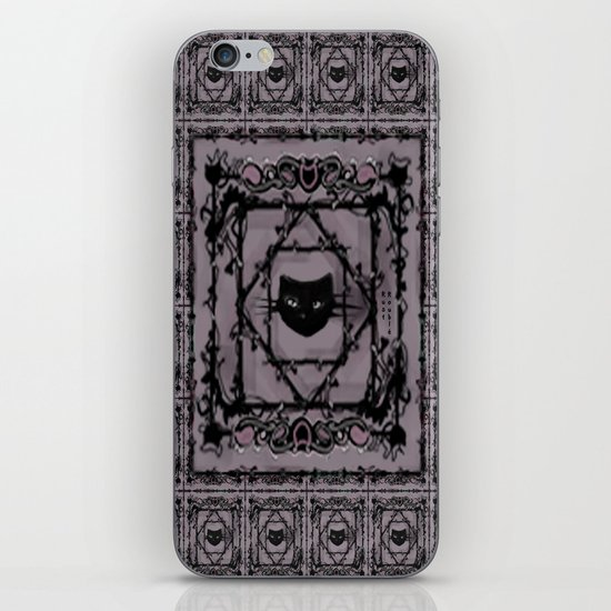 pattern (purple/lovecats) iPhone & iPod Skin