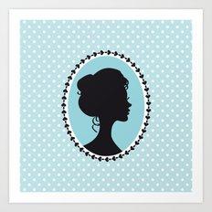 Blue cameo Art Print