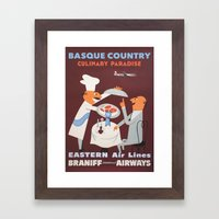 Basque Country culinary paradise Framed Art Print