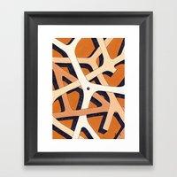 Mono Pattern | The Branc… Framed Art Print
