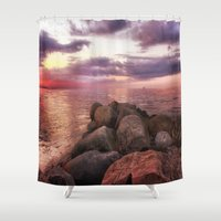 Stones By Seaside Shower Curtain