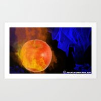 Art Print featuring Ignited apple by Timothy DaRoma