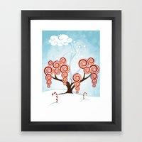 Magic Candy Tree - V3 Framed Art Print