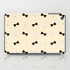 Bows and Dots (Cream Mint) iPad Case