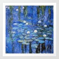 Water Lilies A La Monet Art Print