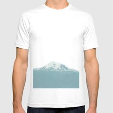 Portland Snowcaps Mens Fitted Tee SMALL White
