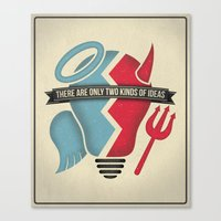 Two Kinds Of Ideas Poste… Canvas Print